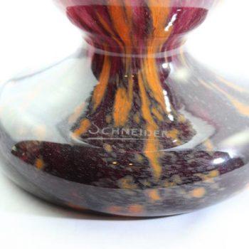 Monumental Schneider, Le Verre Francais Variegated Art Deco Vase
