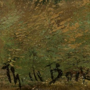 "Théophile de Bock ""Peasant Woman Walking,"" Impressionism"