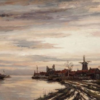 Hermanus Koekkoek Jr, View of Dutch Harbor In Winter