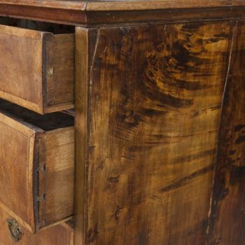 Early Georgian Mixed Wood Five-Drawer Chest Dresser