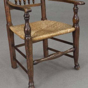 Early 19th Century Yorkshire Spindle Back Side and Armchairs