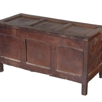 17th Century Jacobean Carved Oak Blanket Chest Coffer