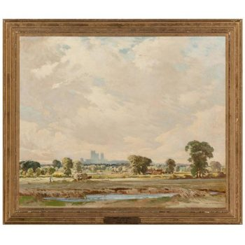Percy Lancaster British, Summer Fields, Art Deco