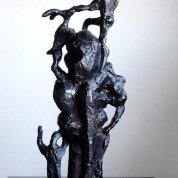 "Jacques Lipchitz Bronze Sculpture ""Biblical Scene II"""